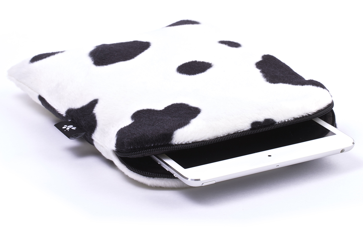 a007cb8620f De Laptophoes, MacBook hoes en iPad hoes van CoverBee! Koe iPad mini hoes - Lazy  Cow