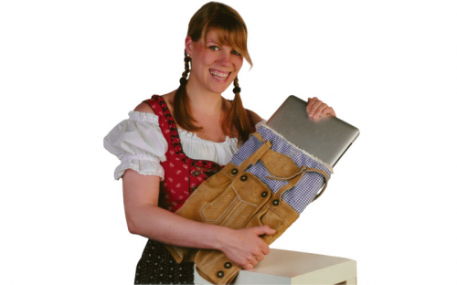 Lederhosen MacBook hoes 2