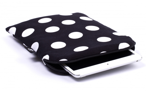 Zwarte Polka stippen iPad mini hoes 1