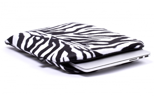 b9c7ad0574b Zebra Laptophoes (wit/zwart)